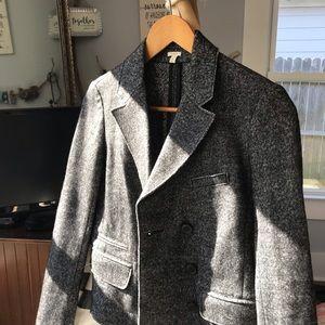 J. Crew Jackets & Coats - J.Crew Double Breasted Blazer XSmall Black/Gray